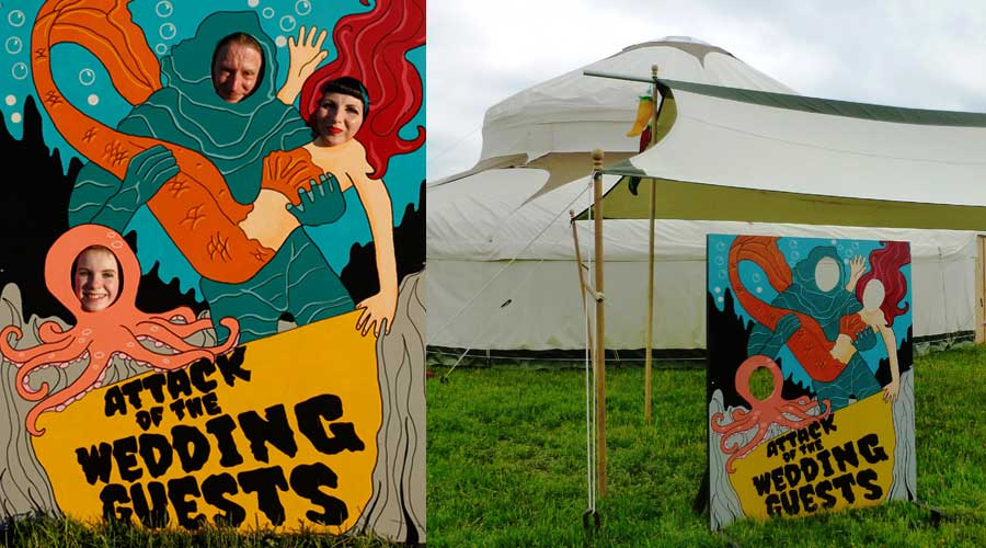 Wedding carnival cut-out available for hire